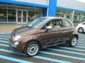 Espresso (Brown) 2013 Fiat 500 c cabrio Lounge