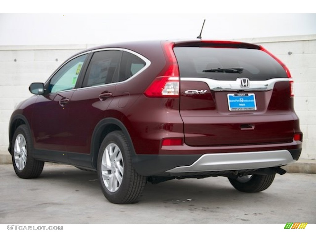 2015 CR-V EX - Basque Red Pearl II / Gray photo #2
