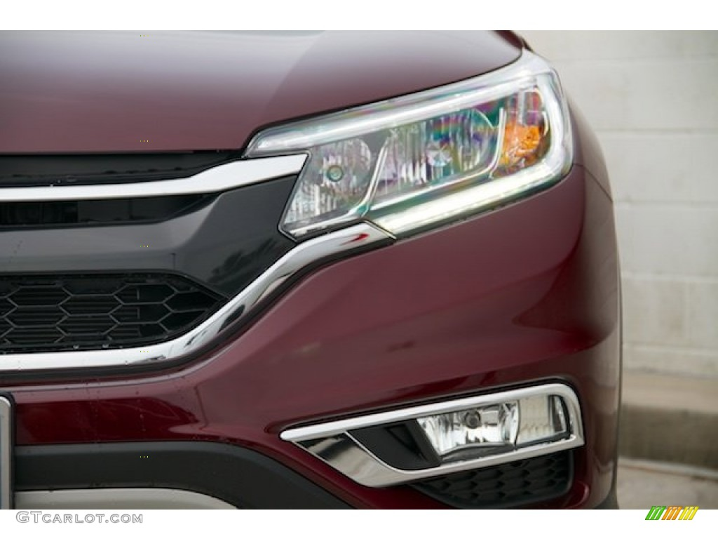 2015 CR-V EX - Basque Red Pearl II / Gray photo #4