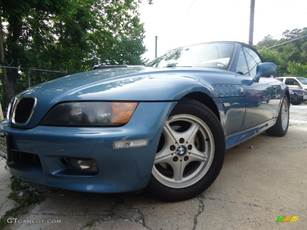 1996 z3 19 roadster atlanta blue metallic black photo 1 black interior 1996 bmw z3