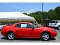 2002 Laser Red Metallic Ford Mustang V6 Coupe  photo #2