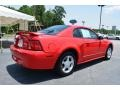 2002 Laser Red Metallic Ford Mustang V6 Coupe  photo #3