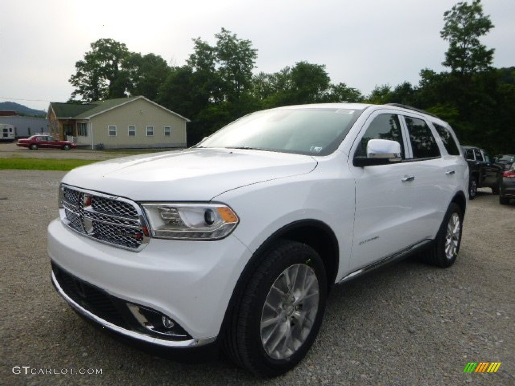 Bright White Dodge Durango