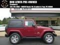 2011 Deep Cherry Red Crystal Pearl Jeep Wrangler Sahara 4x4  photo #1