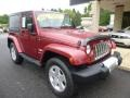2011 Deep Cherry Red Crystal Pearl Jeep Wrangler Sahara 4x4  photo #3