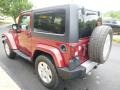 2011 Deep Cherry Red Crystal Pearl Jeep Wrangler Sahara 4x4  photo #7
