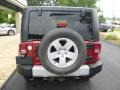 2011 Deep Cherry Red Crystal Pearl Jeep Wrangler Sahara 4x4  photo #8