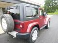 2011 Deep Cherry Red Crystal Pearl Jeep Wrangler Sahara 4x4  photo #10