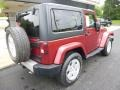 2011 Deep Cherry Red Crystal Pearl Jeep Wrangler Sahara 4x4  photo #13