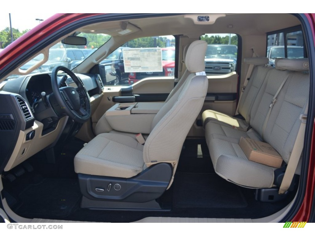 Medium Light Camel Interior 2015 Ford F150 Xlt Supercab