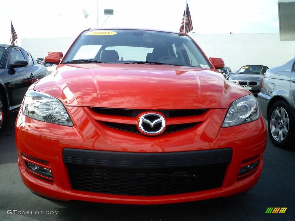 2008 true red mazda mazda3 mazdaspeed grand touring. Black Bedroom Furniture Sets. Home Design Ideas