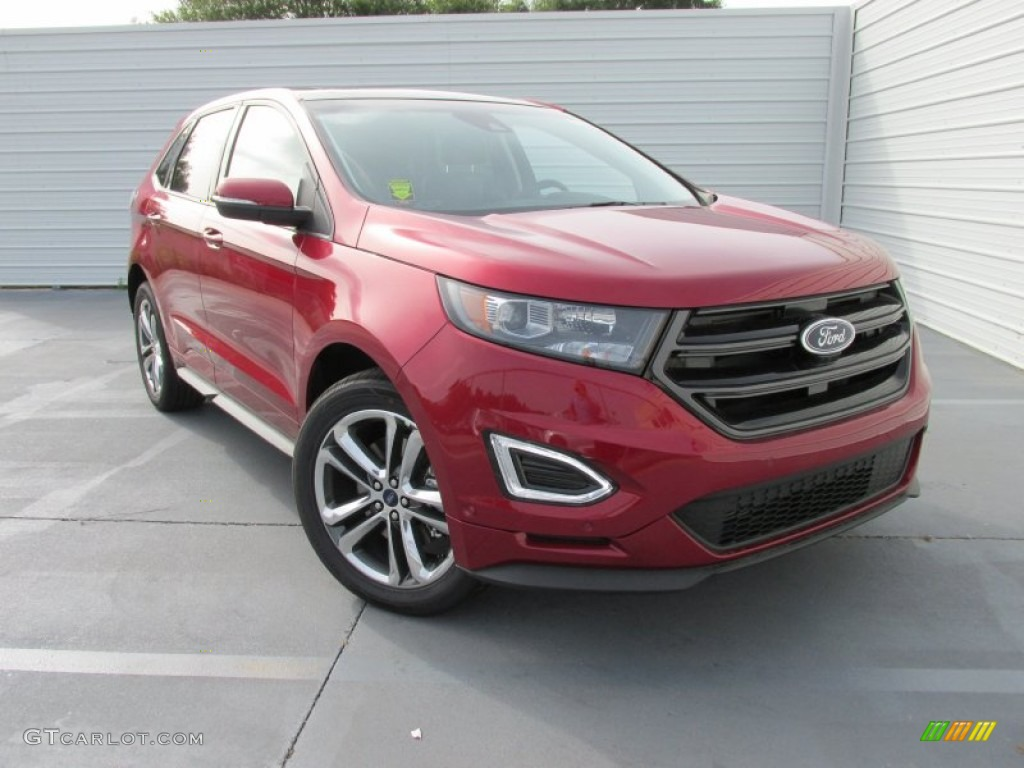 2015 ford edge sport awd ruby red metallic color ebony interior 2015