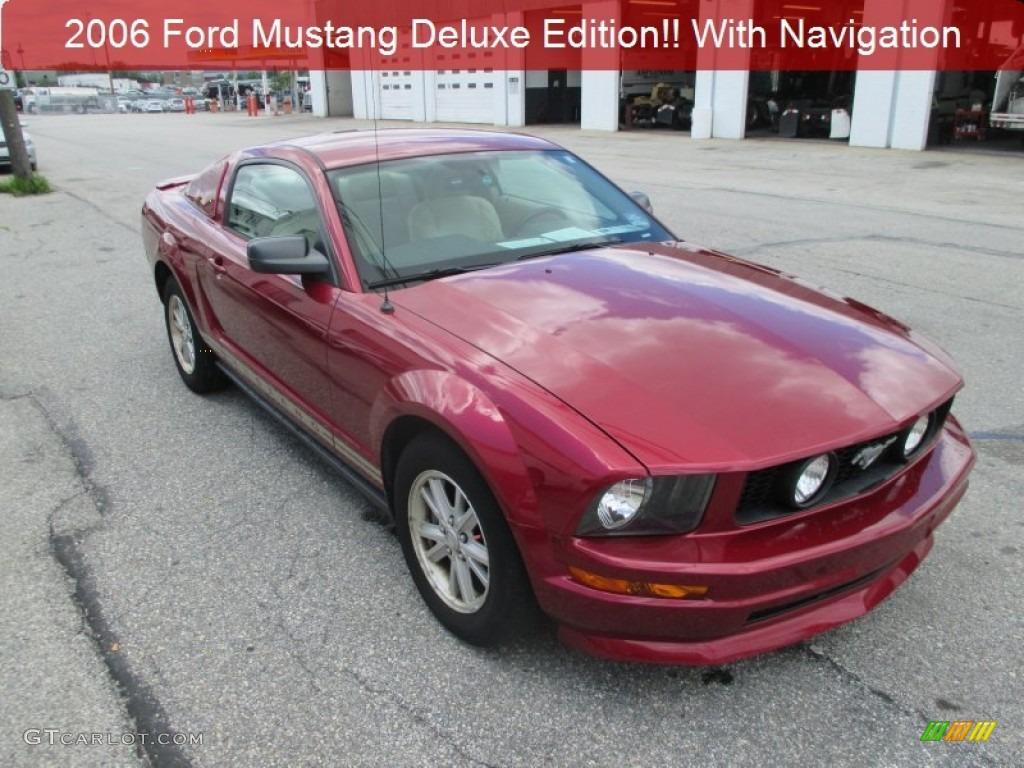 2007 Mustang V6 Premium Coupe - Redfire Metallic / Medium Parchment photo #1