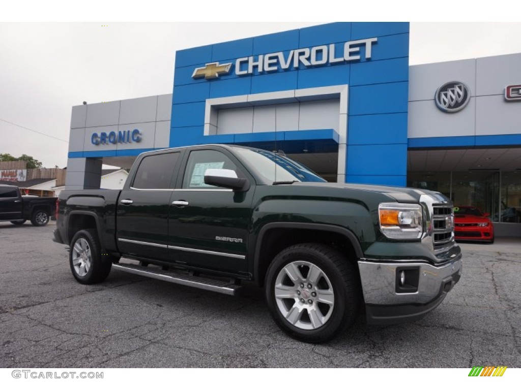2015 emerald green metallic gmc sierra 1500 slt crew cab 105213116 car color. Black Bedroom Furniture Sets. Home Design Ideas