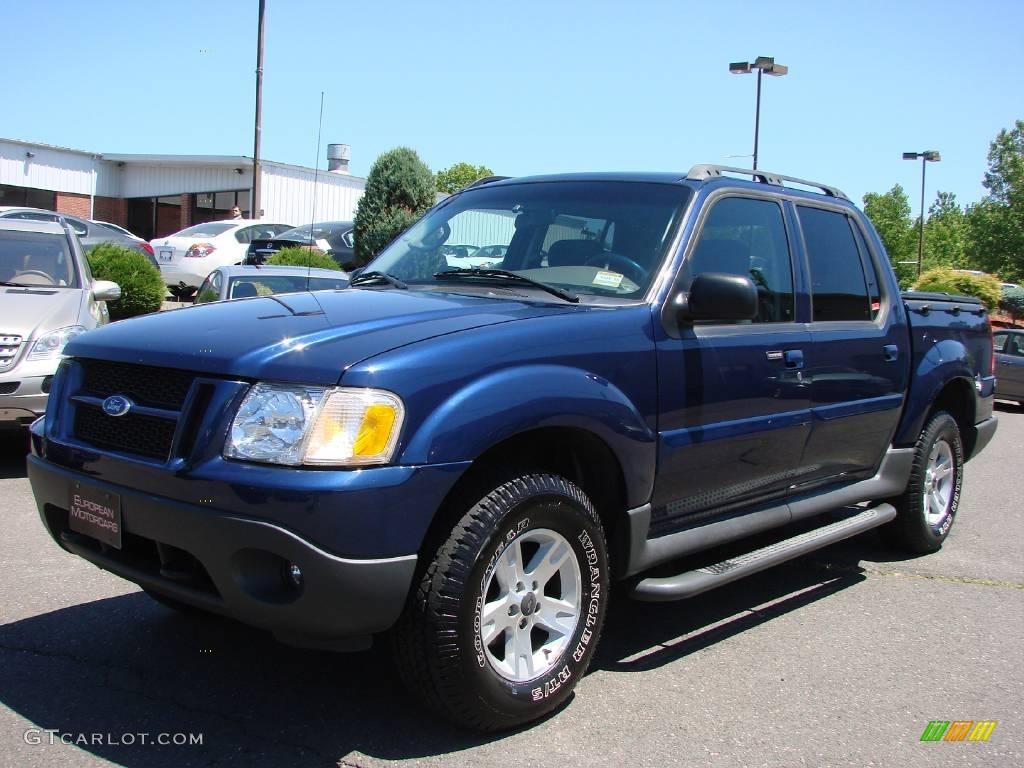 2005 dark blue pearl metallic ford explorer sport trac xlt 4x4 10496433 car. Black Bedroom Furniture Sets. Home Design Ideas