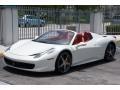 Bianco Avus (White) 2014 Ferrari 458 Spider