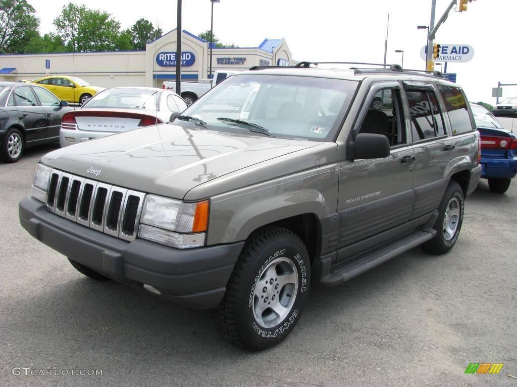 1996 charcoal gold satin jeep grand cherokee laredo 4x4 - 1996 jeep grand cherokee interior ...