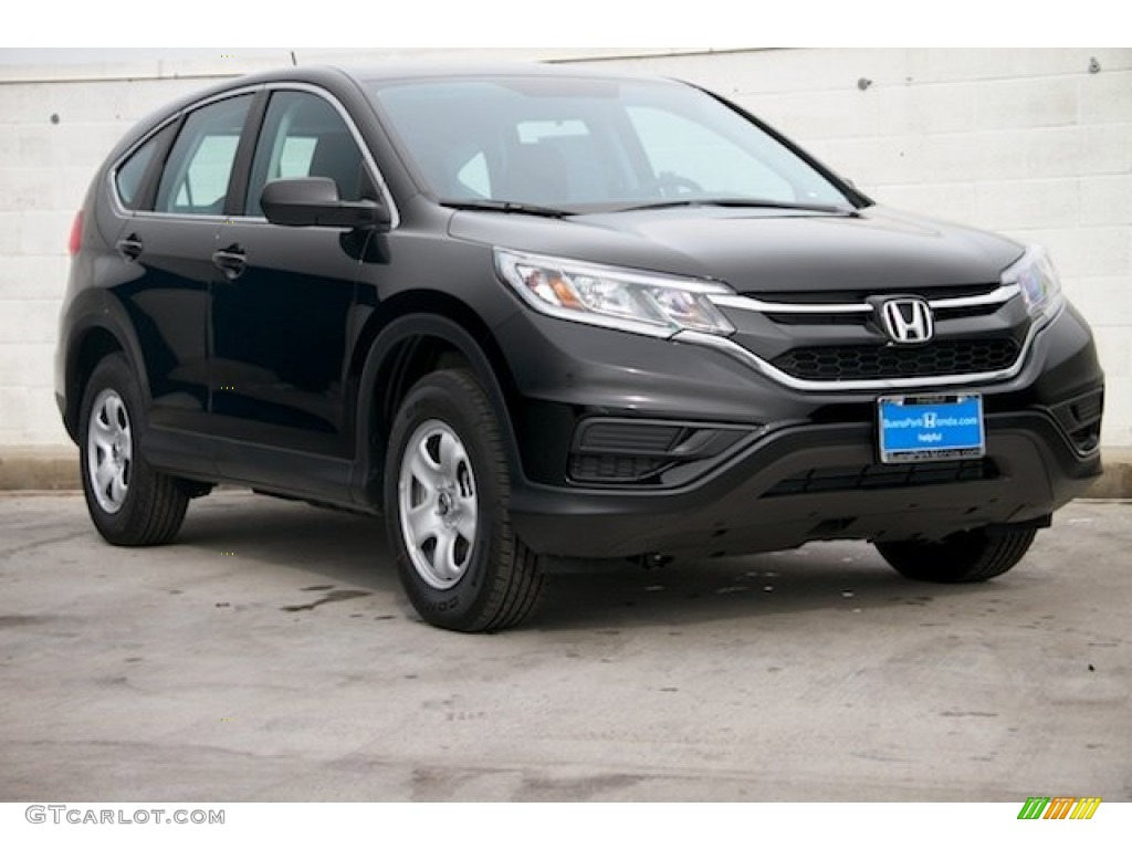 2015 CR-V LX - Crystal Black Pearl / Black photo #1