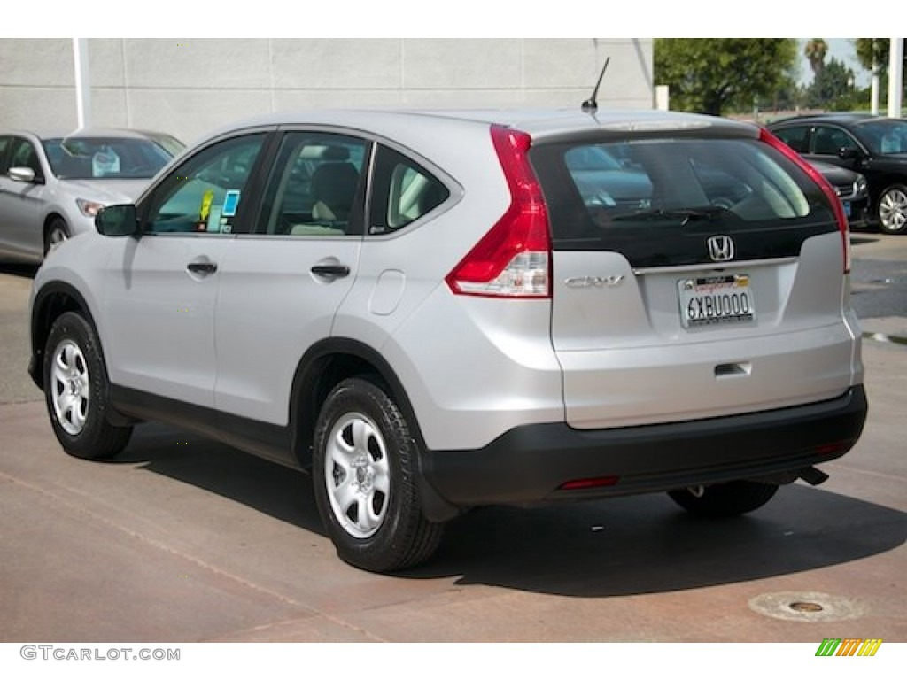 2012 CR-V LX - Alabaster Silver Metallic / Gray photo #2