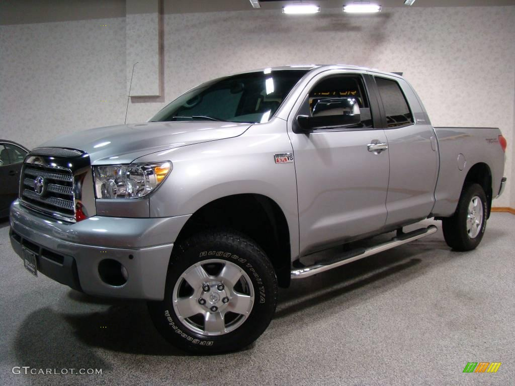 2008 silver sky metallic toyota tundra limited double cab 4x4 10499042 car. Black Bedroom Furniture Sets. Home Design Ideas