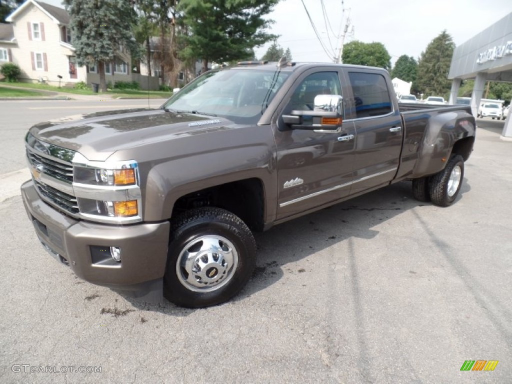 2015 brownstone metallic chevrolet silverado 3500hd high country crew cab dual rear wheel 4x4. Black Bedroom Furniture Sets. Home Design Ideas