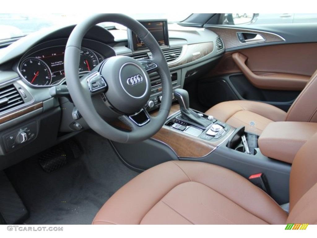 Nougat Brown Interior 2016 Audi A6 20 TFSI Premium Plus quattro
