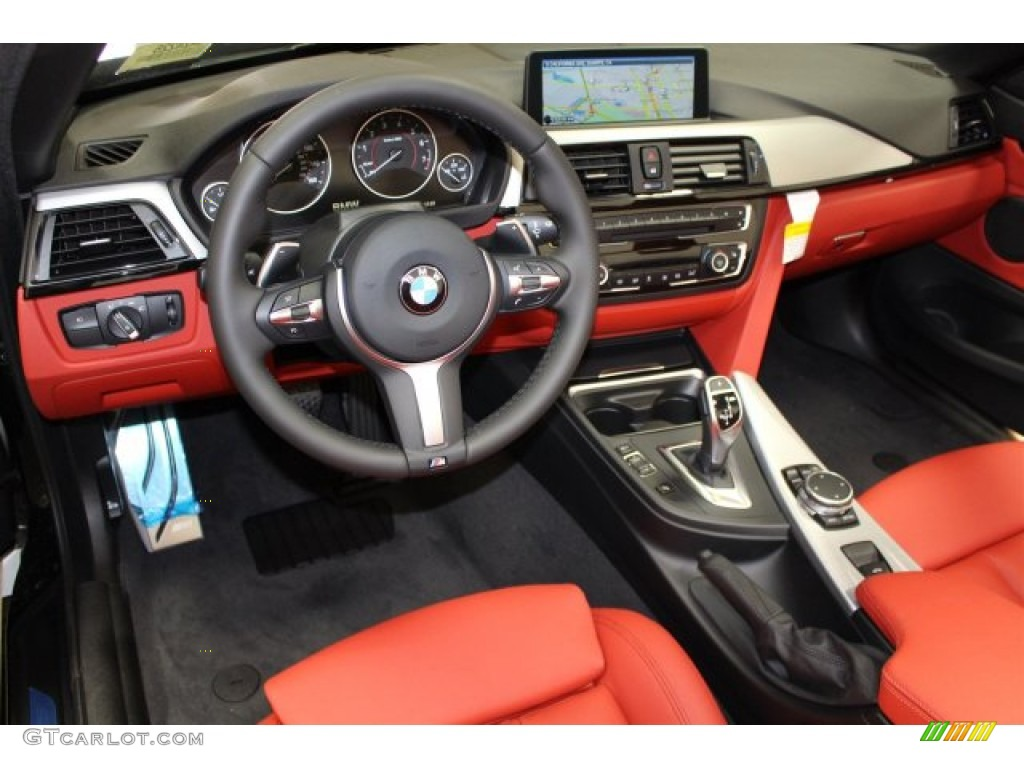 Coral Red Black Highlight Interior 2015 Bmw 4 Series 428i Convertible Photo 105420534