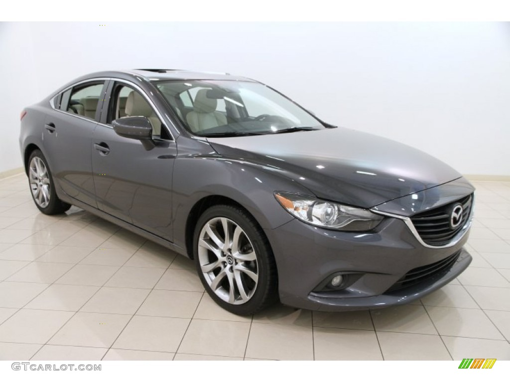 2014 meteor gray mica mazda mazda6 grand touring 105423818 car color galleries. Black Bedroom Furniture Sets. Home Design Ideas