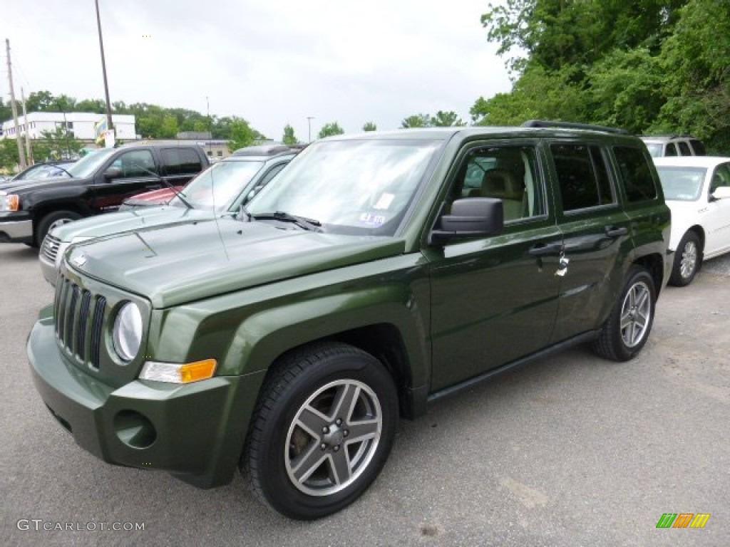 2008 jeep green metallic jeep patriot sport 4x4 105423640 photo 6 car color. Black Bedroom Furniture Sets. Home Design Ideas