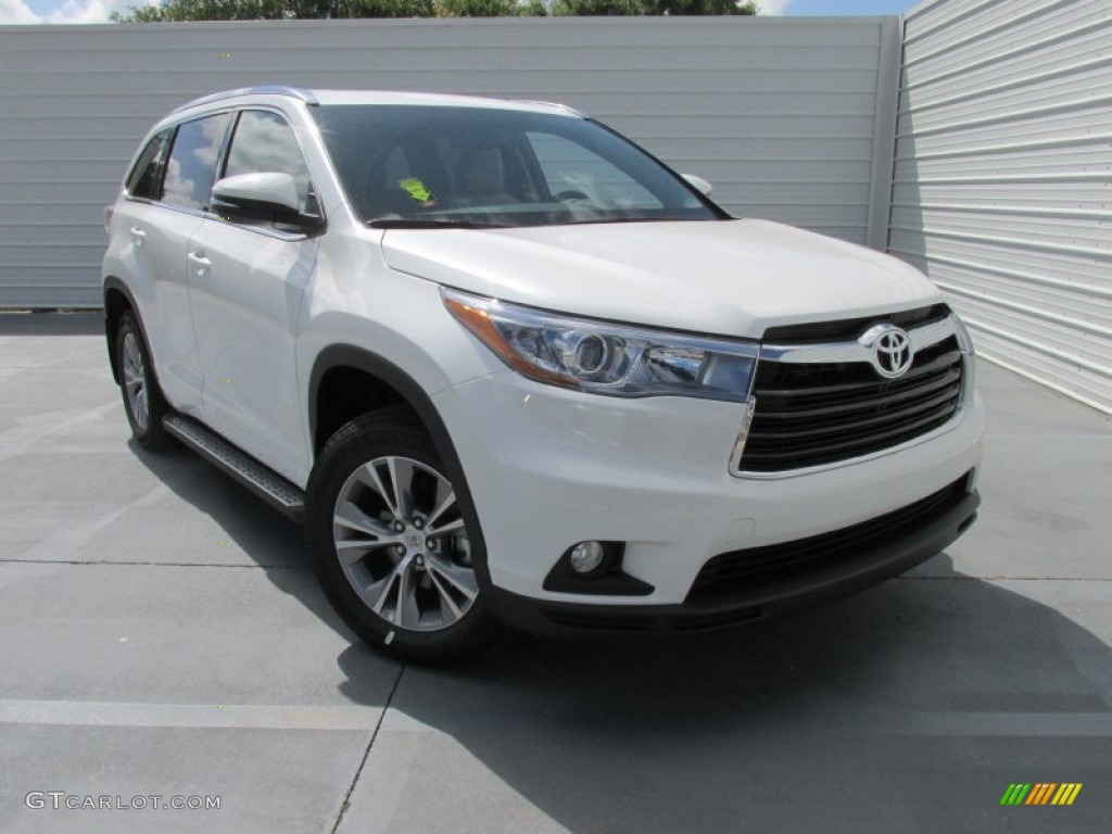 2015 blizzard pearl white toyota highlander xle 105514499 car color galleries