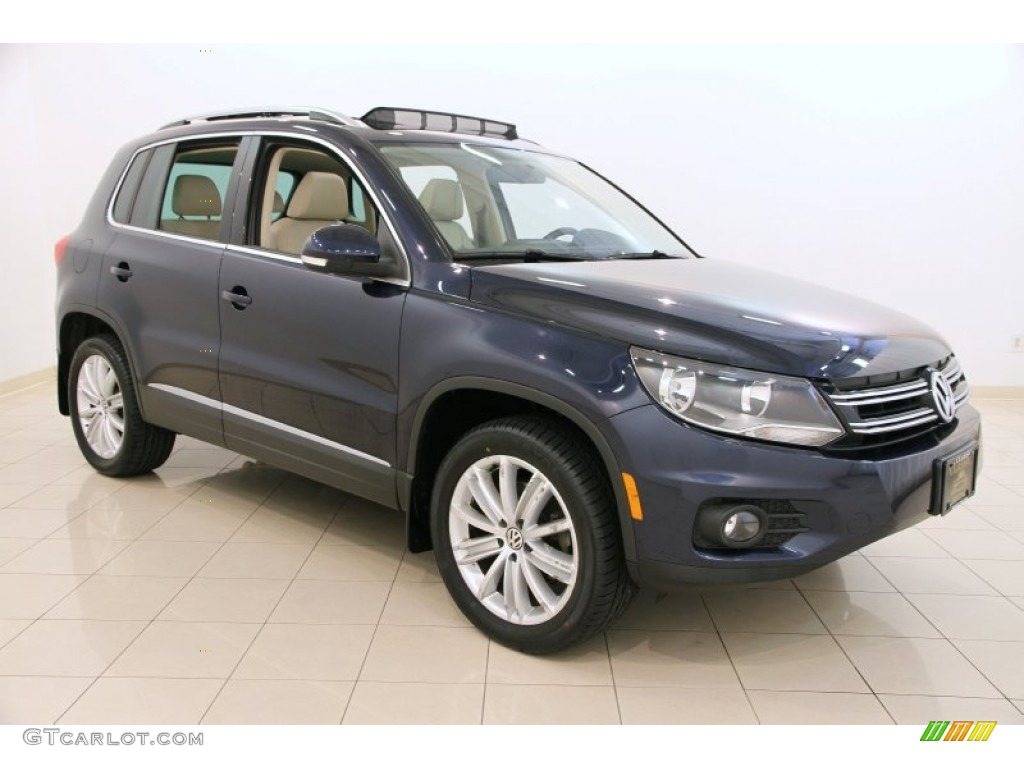 2012 night blue metallic volkswagen tiguan se 4motion. Black Bedroom Furniture Sets. Home Design Ideas