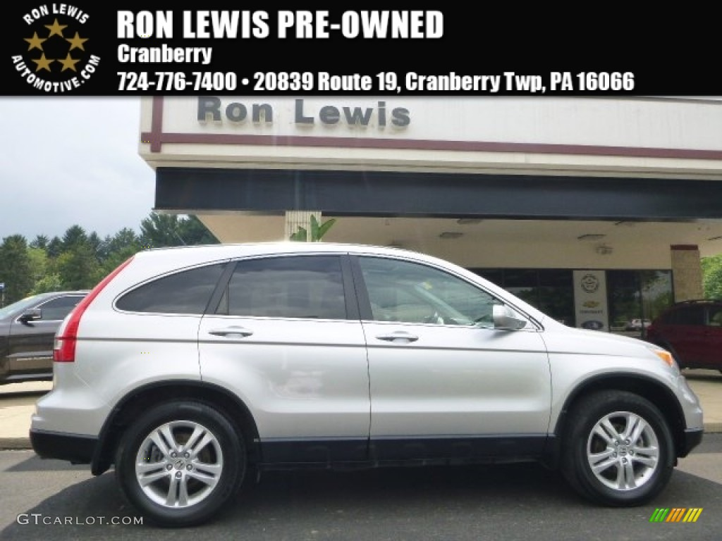 2011 CR-V EX-L 4WD - Alabaster Silver Metallic / Black photo #1