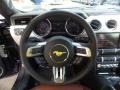 2015 Ford Mustang Dark Saddle Interior Steering Wheel Photo