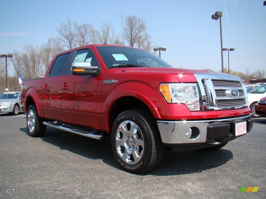 2009 razor red metallic ford f150 lariat supercrew 4x4 10548605 car color. Black Bedroom Furniture Sets. Home Design Ideas