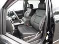 Jet Black Front Seat Photo for 2015 Chevrolet Silverado 1500 #105581455