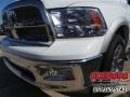 2012 Bright White Dodge Ram 1500 Laramie Crew Cab  photo #2