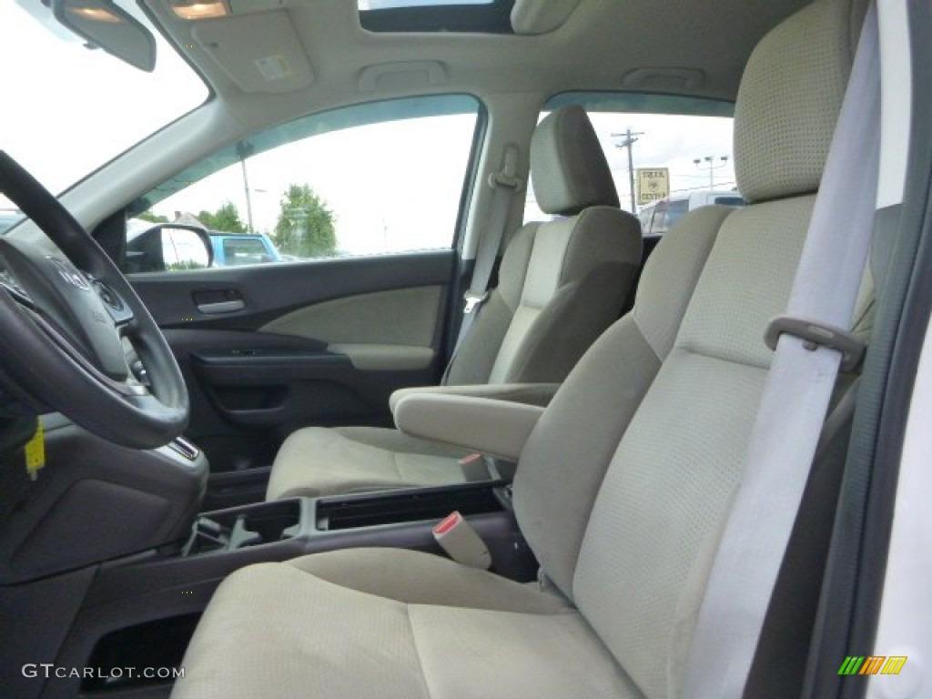 2013 CR-V EX AWD - White Diamond Pearl / Gray photo #13