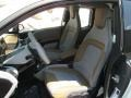 2015 BMW i3 Giga Cassia Natural Leather & Carum Spice Grey Wool Cloth Interior Front Seat Photo