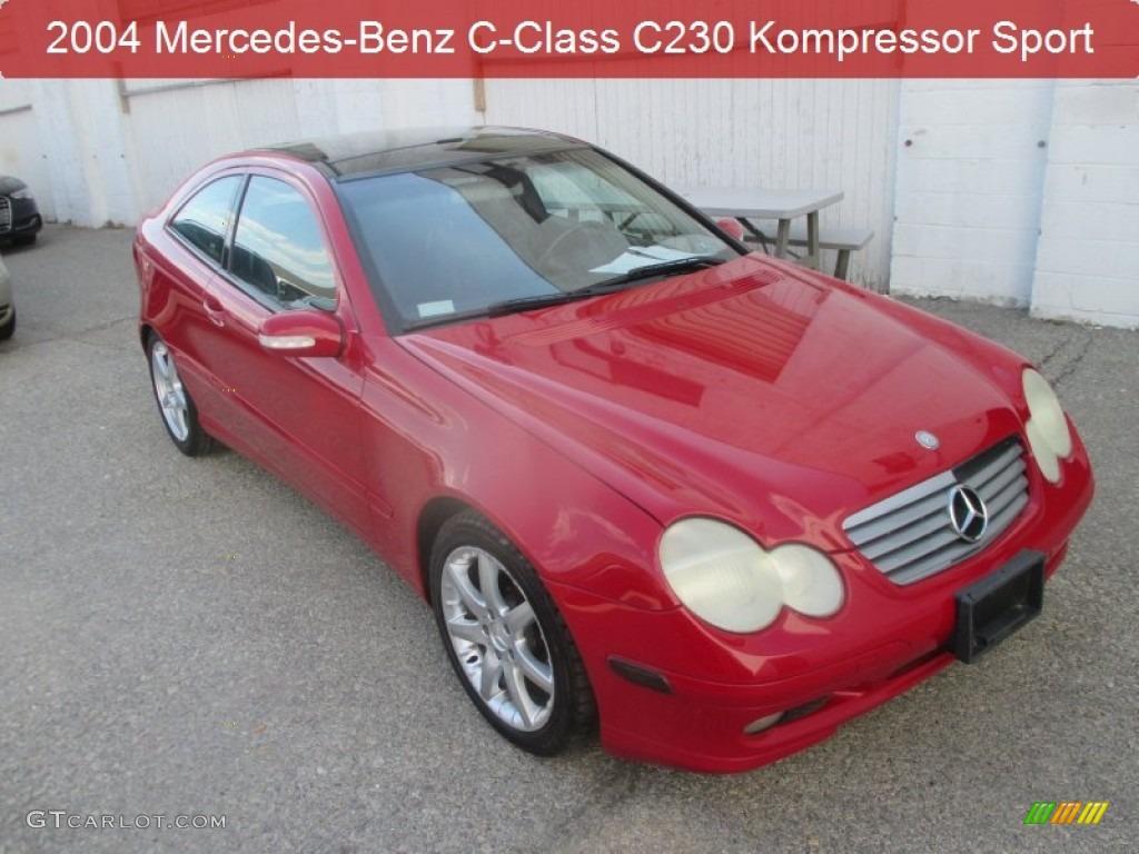 2004 Mars Red Mercedes Benz C 230 Kompressor Coupe