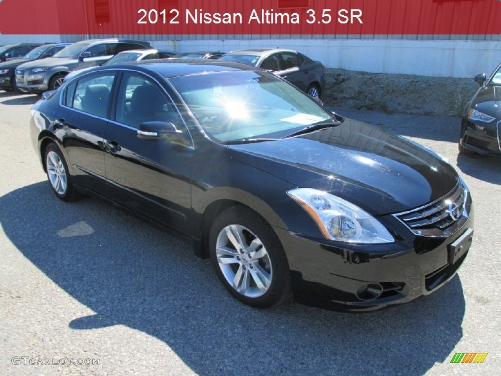 2012 super black nissan altima 3 5 sr 105850070 car color galleries. Black Bedroom Furniture Sets. Home Design Ideas