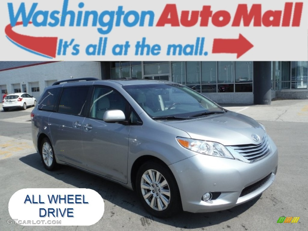 2011 Sienna Limited AWD - Silver Sky Metallic / Light Gray photo #1