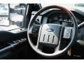 2016 Ford F250 Super Duty Platinum Black Interior Steering Wheel Photo