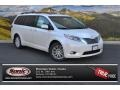 Blizzard White Pearl 2015 Toyota Sienna Limited AWD