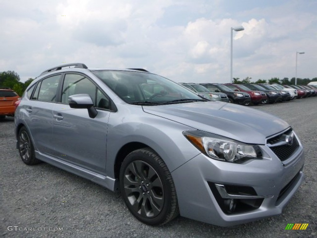 2015 ice silver metallic subaru impreza sport premium 5 door 105954775. Black Bedroom Furniture Sets. Home Design Ideas