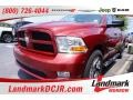 2012 Flame Red Dodge Ram 1500 Express Quad Cab #105990317