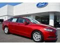 2016 Ruby Red Metallic Ford Fusion SE #106071675