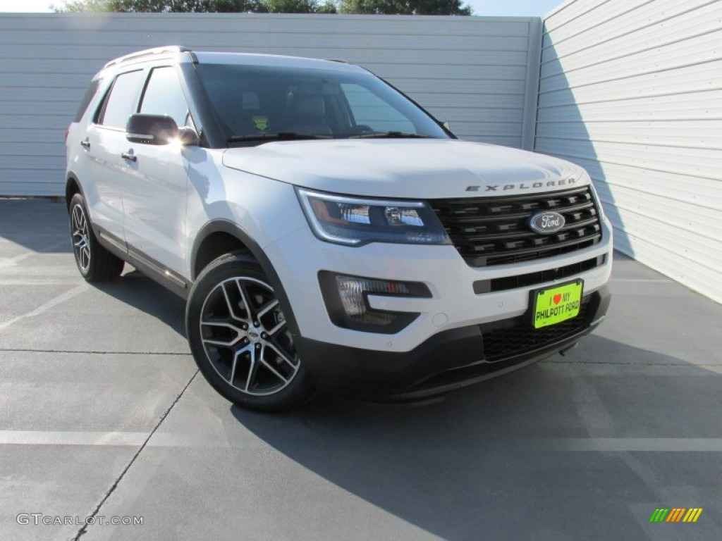 2016 white platinum metallic tri coat ford explorer sport 4wd 106071764 photo 17 gtcarlot. Black Bedroom Furniture Sets. Home Design Ideas