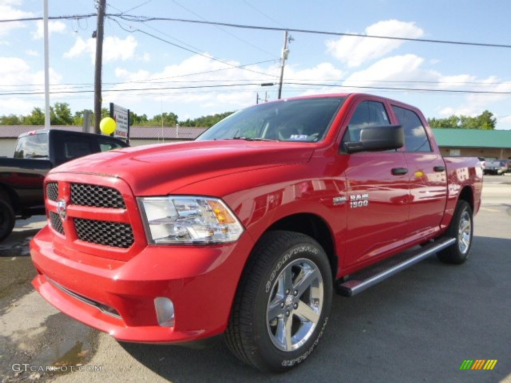 2015 flame red ram 1500 express crew cab 4x4 106071745 car color galleries. Black Bedroom Furniture Sets. Home Design Ideas