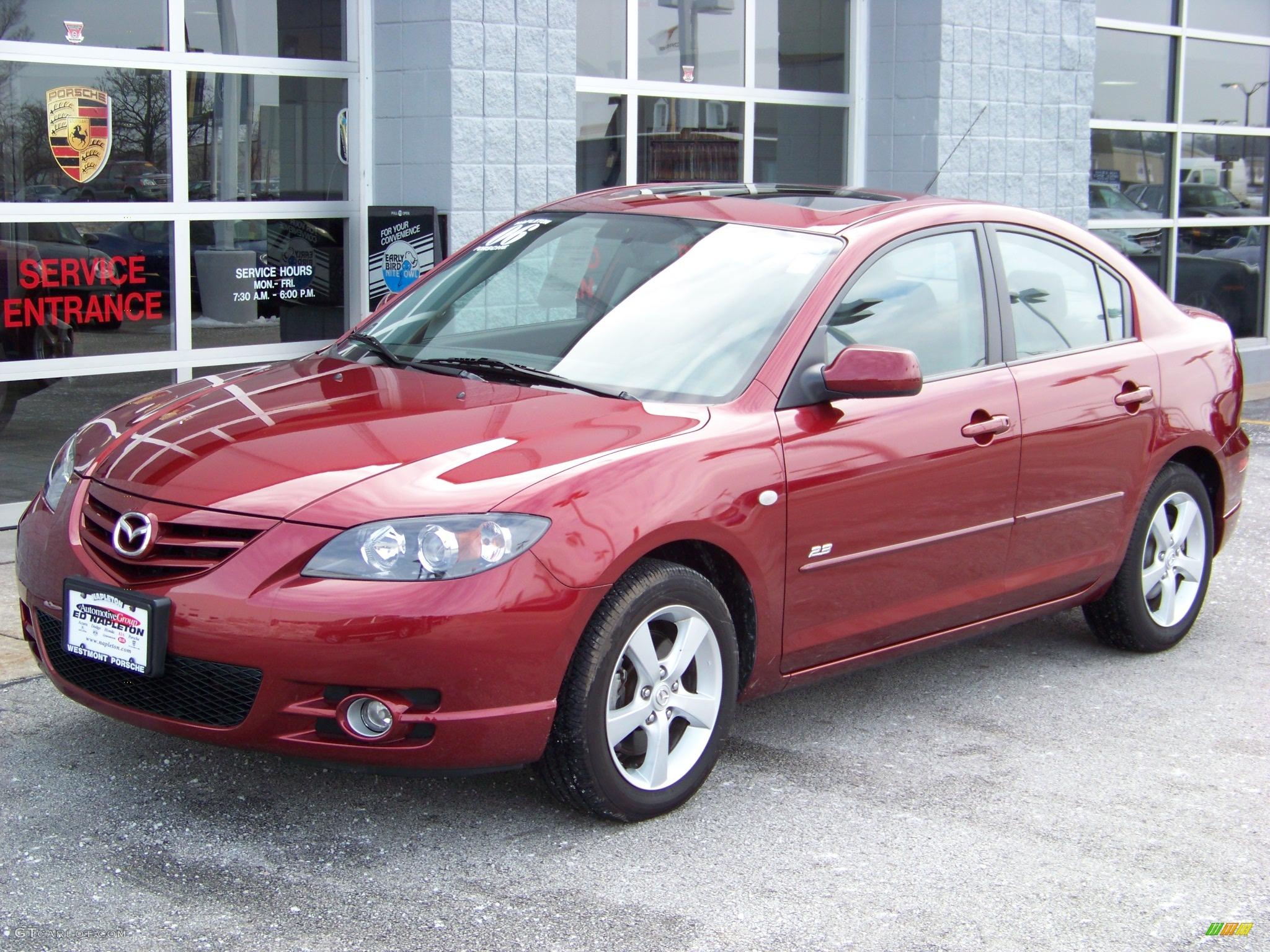 2006 copper red mica mazda mazda3 s touring sedan 106109 car color galleries. Black Bedroom Furniture Sets. Home Design Ideas