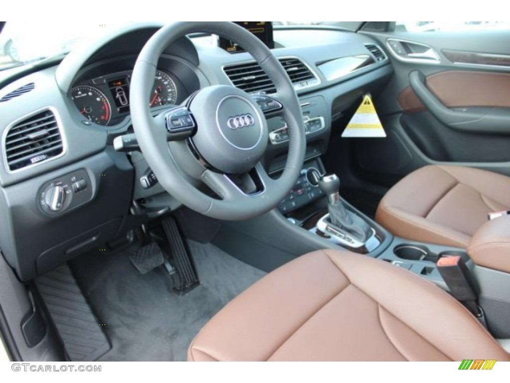 Chestnut Brown Interior 2016 Audi Q3 2 0 Tsfi Premium Plus Photo 106144387 Gtcarlot Com